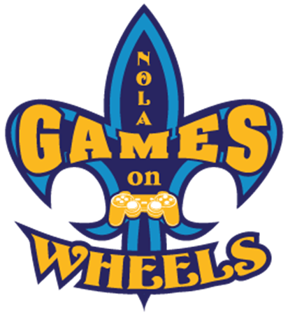 NOLA Games on Wheels video game and laser tag parties in New Orleans logo