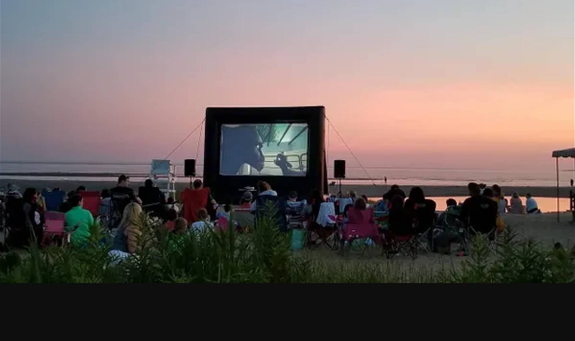 Outdoor movie theater inflatable screen rental in New Orleans